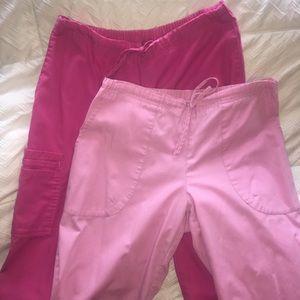 💗Pre-Loved SB Scrubs Lot of 2 Pink Scrub Pants💓